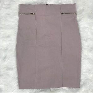 Nude stretchy high rise skirt